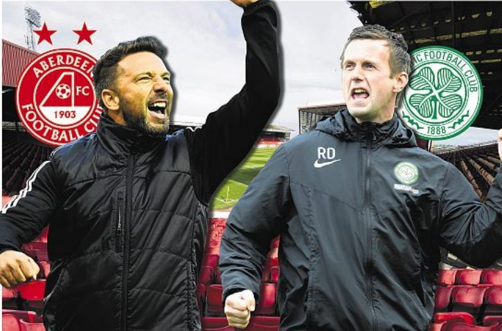 Derek McInnes and his team face Ronny Deila's Celtic this afternoon