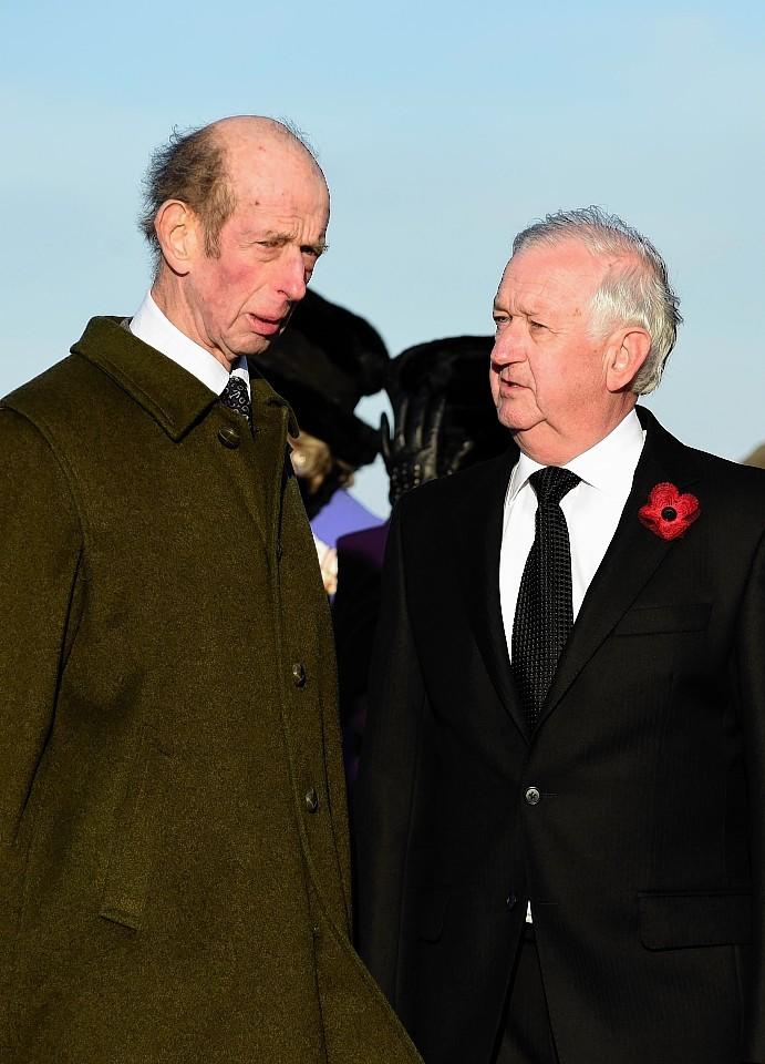 Duke of Kent at Whitehills