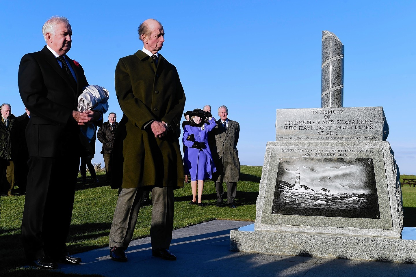 The Duke of Kent on his visit to Moray