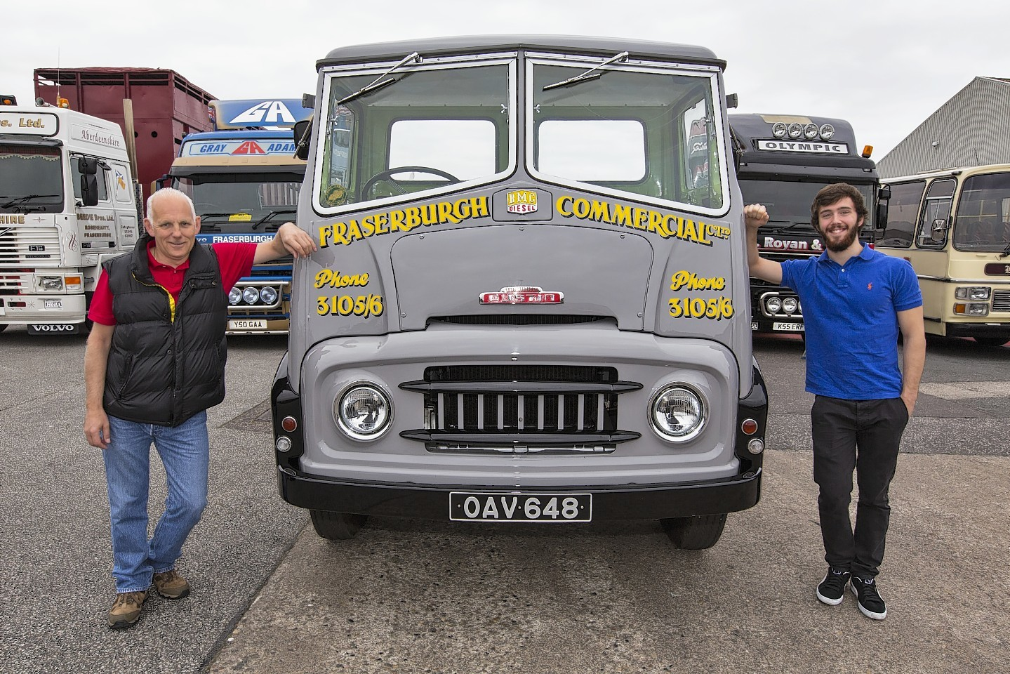 Vintage vehicles travel coast to coast raises over £1,500 for