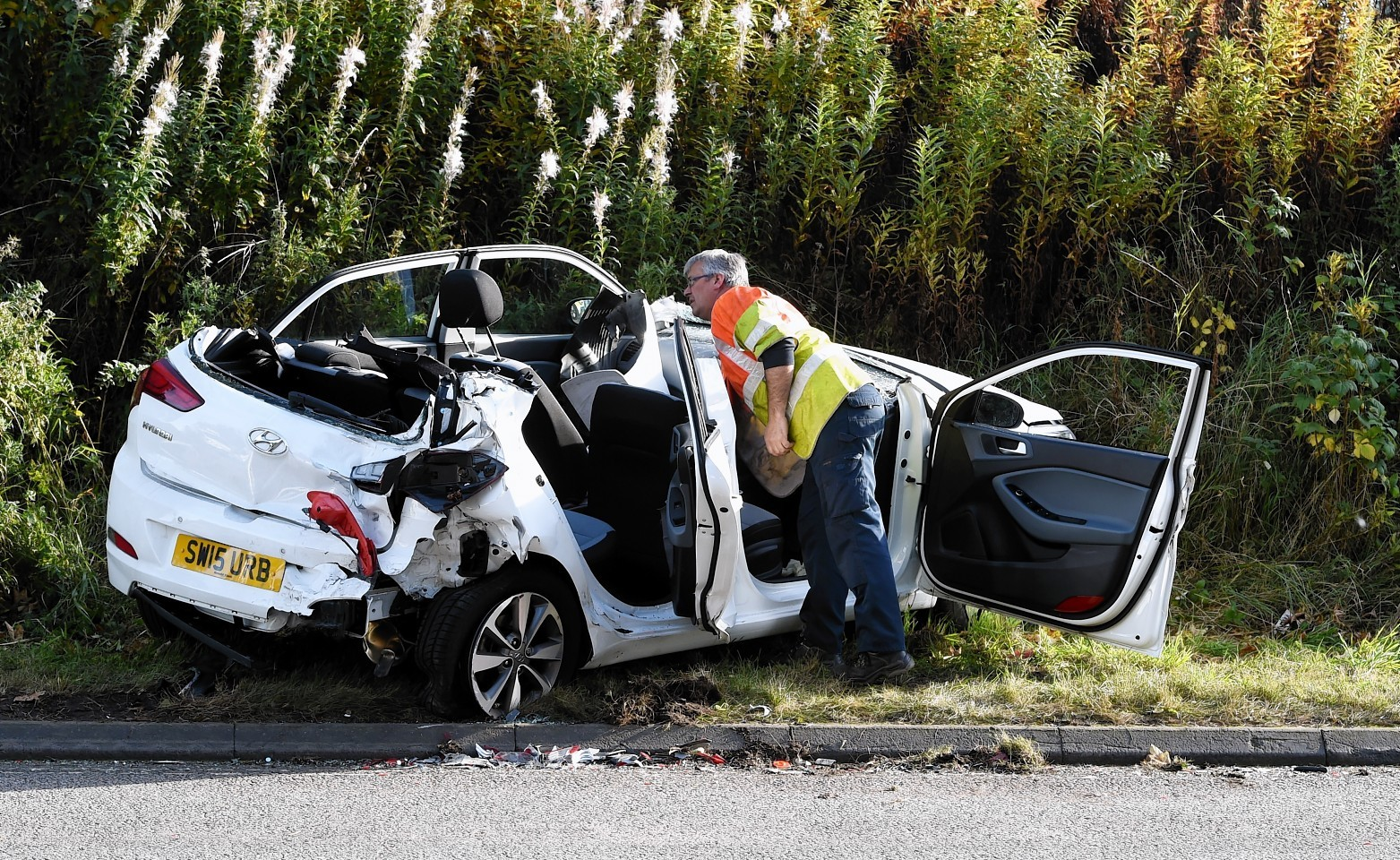 An RTC on the A90 approx 1mile north of Ellon.  Picture by Jim Irvine  15-10-15