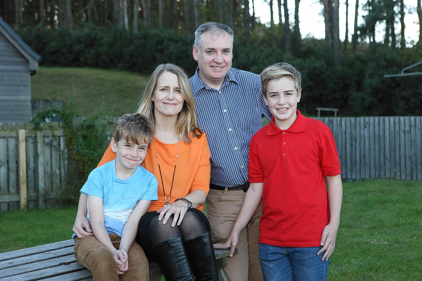 Fiona and Richard Lochhead with their children