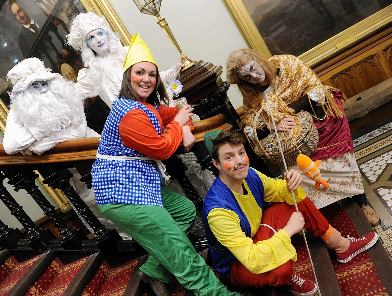 Some of the acts from last year's winter festival: Stilt walkers Connel Rollo-Jamieson and Aliza Graham
