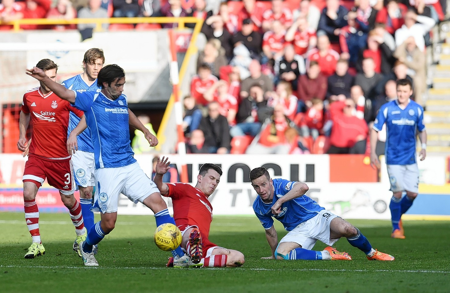 Aberdeen will face St Johnstone on Saturday, April 29.