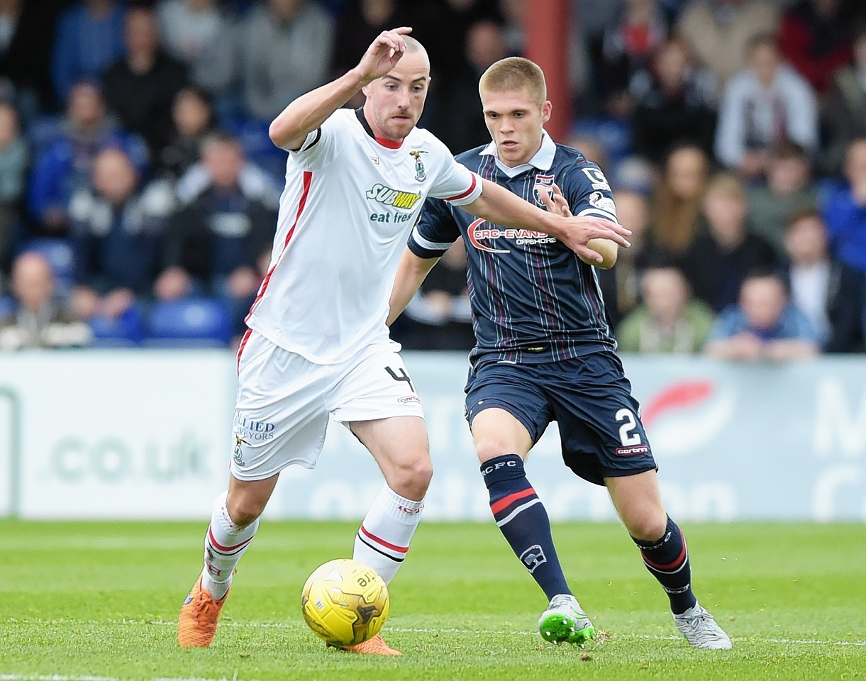 James Vincent has suffered injury problems since joining Caley Thistle.