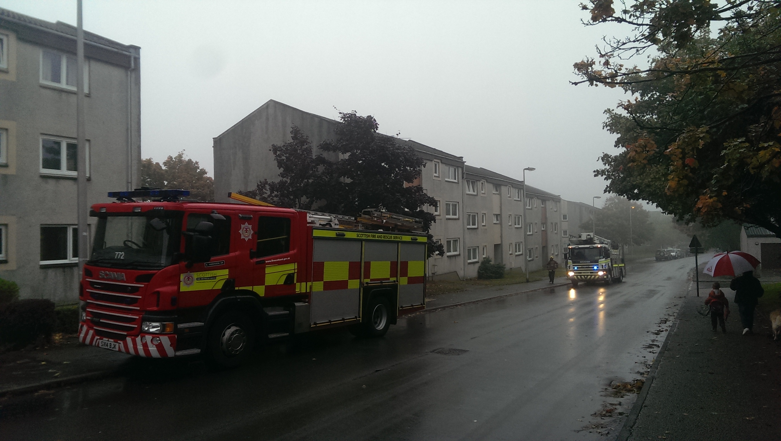 Firefighters are on the scene at Lewis Road