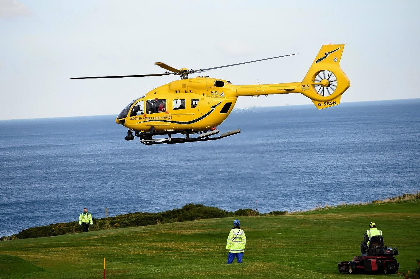 Air ambulance has been called