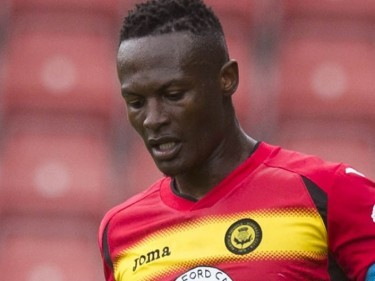 David Amoo was among the scorers in Partick's 3-0 defeat of Dundee United