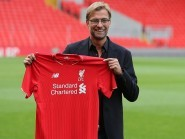 New Liverpool manager Jurgen Klopp was unveiled at Anfield