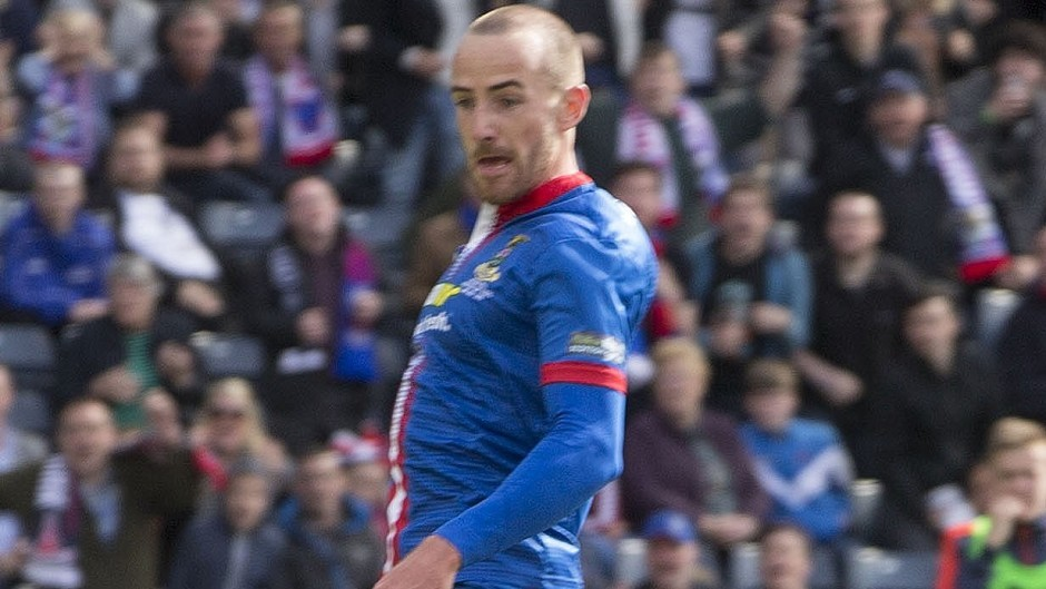 Former Caley Thistle midfielder James Vincent, now with Dundee, could line up against his former club.