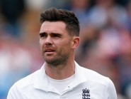 James Anderson moved level with Wasim Akram on 414 Test wickets