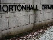 The sign outside Mortonhall Crematorium near Edinburgh.