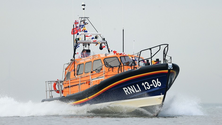 A lifeboat was called to assist.