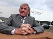 Former Scotland international Kenny Dalglish after officially opening the Dalmarnock Legacy Hub