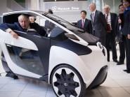 Mayor of London Boris Johnson visits the car manufacturer Toyota's headquarters near Nagoya in Japan