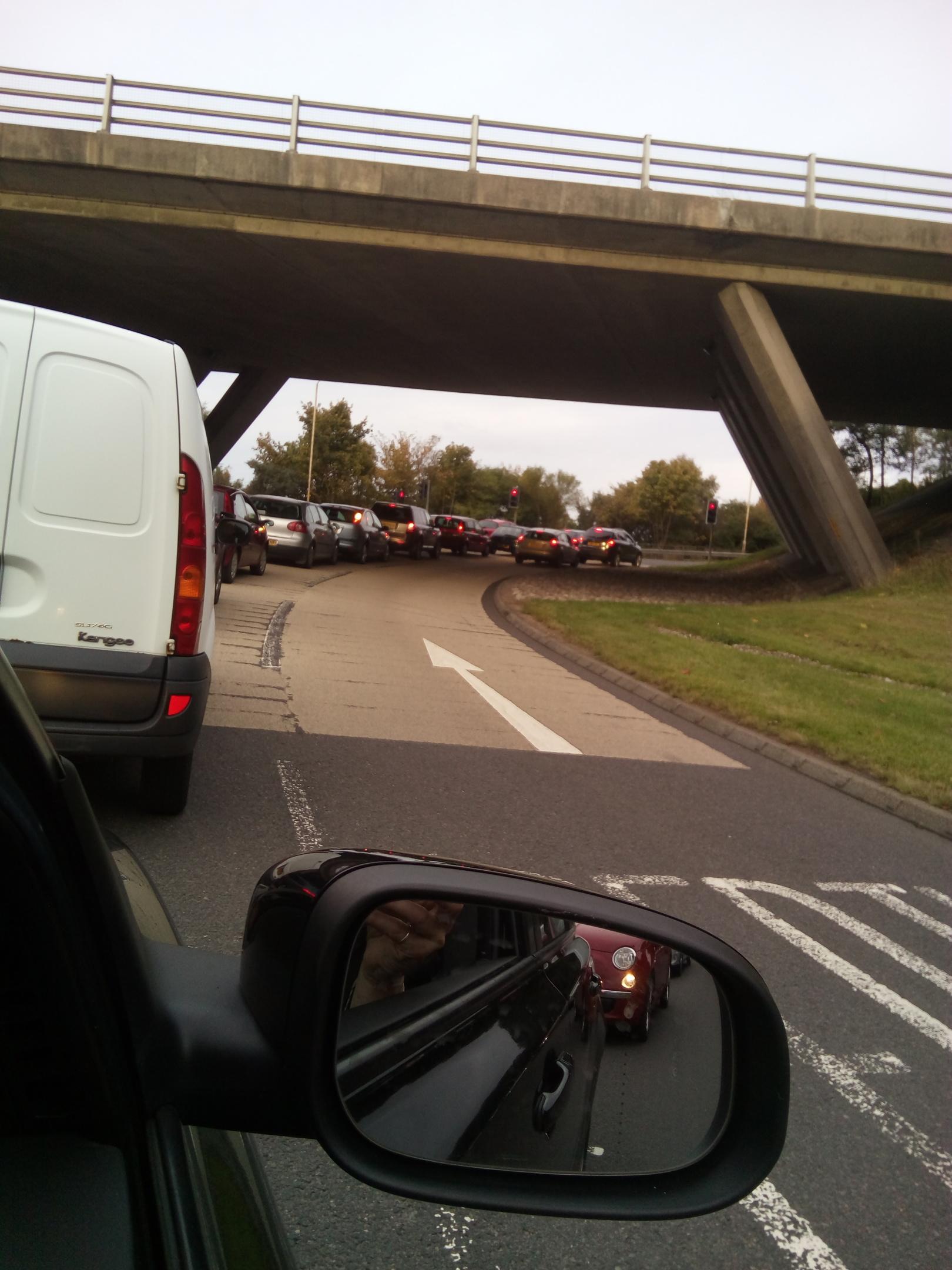 Traffic at the Raigmore Interchange