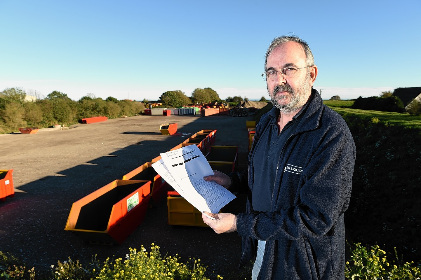 Portlethen and District Community Council chairman Ron Sharp who is leading objections to the expansion of EIS Waste Service's plans for wash pods on Gallowhill, Nigg.