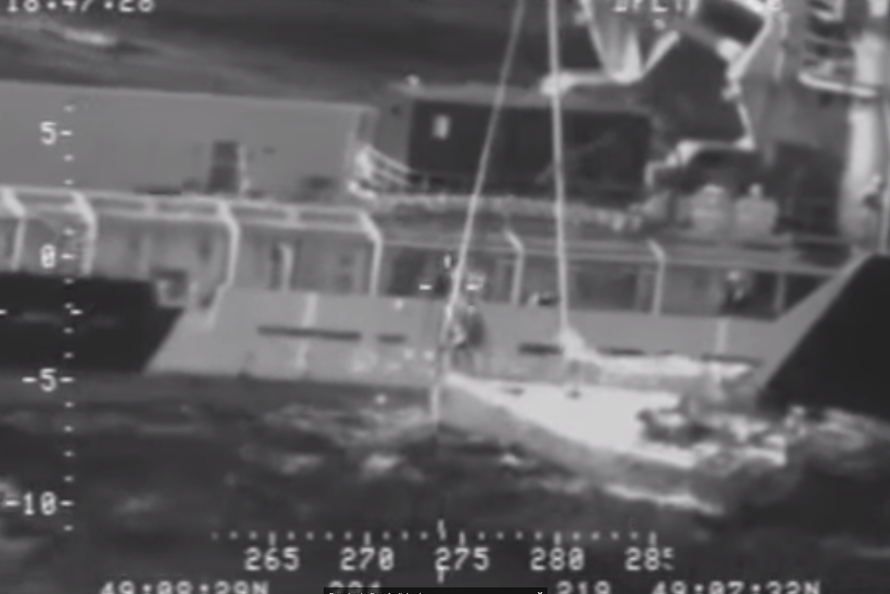 Coastguard footage of the operation