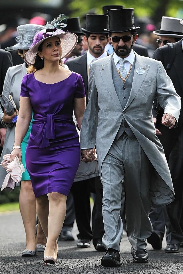Sheikh Mohammed Bin Rashid Al Maktoum and HRH Princess Haya Bint Al Hussein on day one of the Royal Ascot Meeting at Ascot Racecourse, Berkshire.
