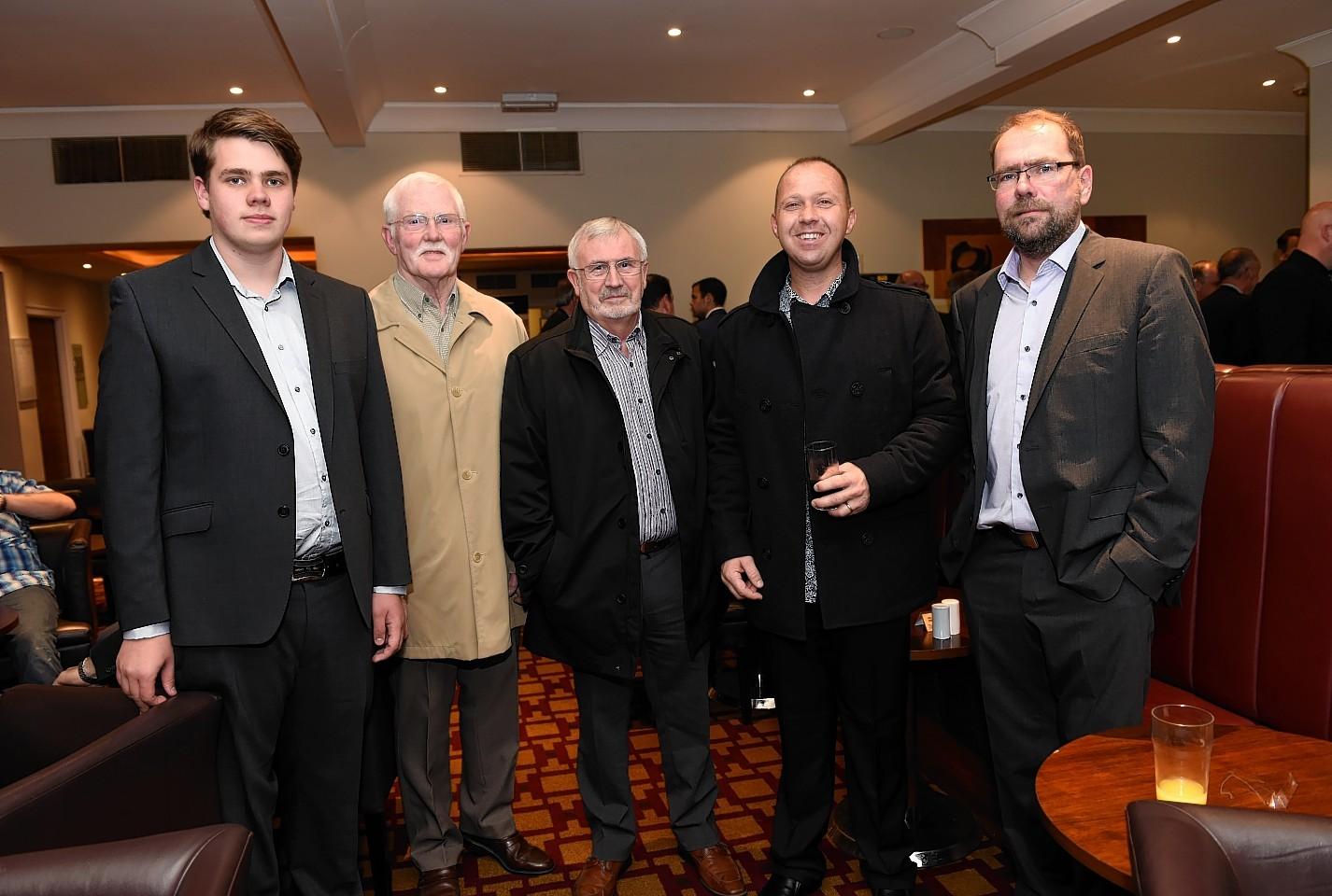 Matthew Wilson, Hamish McLeod, Jim Johnston, Derek Morris and Stuart Wilson