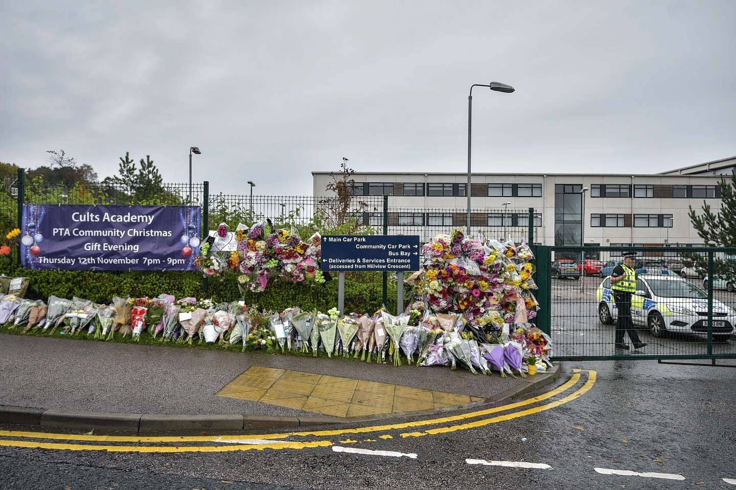 The number of floral tributes continues to grow