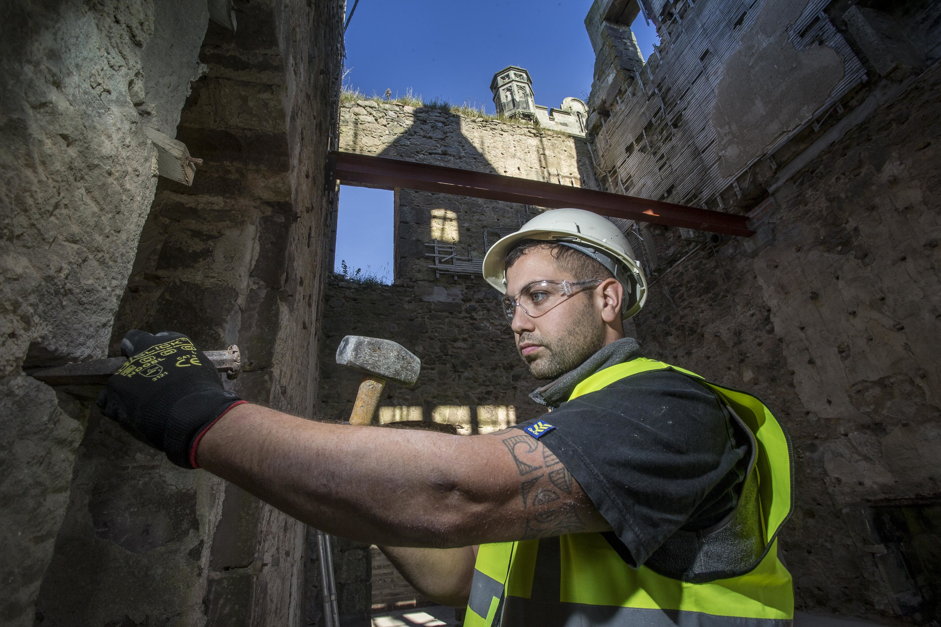 Work is underway to renovate the historic Ury Mansion near Stonehaven