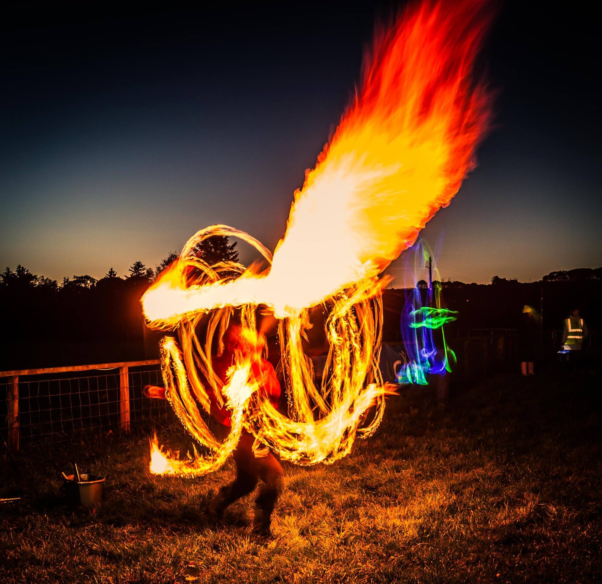 A firebreather at this year's Fireworks Against Cancer event. Photo by Stuart Fenty.