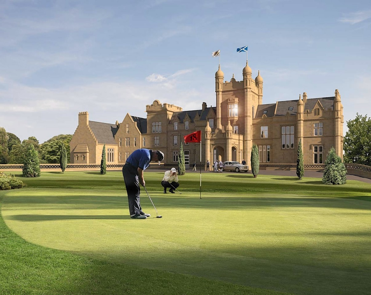 Artist impressions of planned Jack Nicklaus golf course at Ury, near Stonehaven