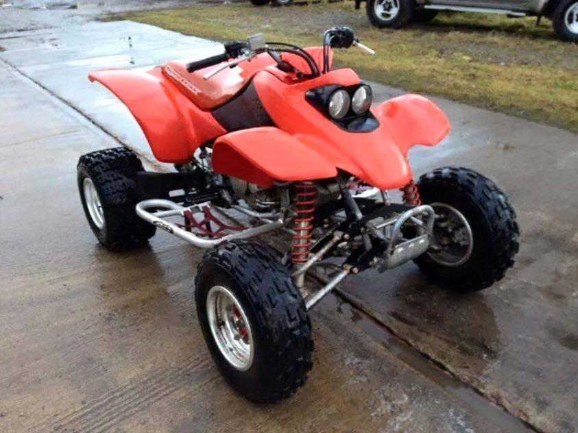 The red Honda quad bike which was stolen