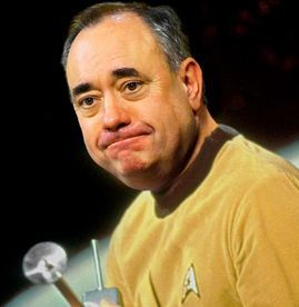 Alex Salmond mocked up this picture of his head on William Shatner's body