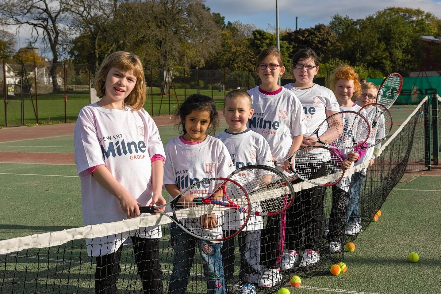 Forty youngsters enjoyed a day out at Westburn Tennis Club