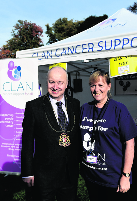 Aberdeen Lord Provost George Adam with CLAN Chief Executive Colette Backwell