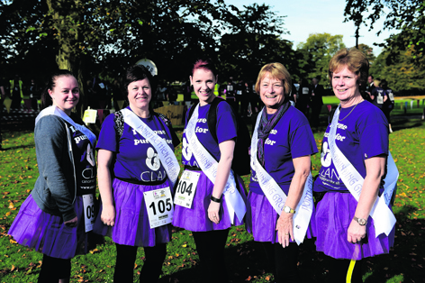 Stephanie Ingram, Linda Ingram, Laura Ironside, Jean Duncan and Alison Whyte
