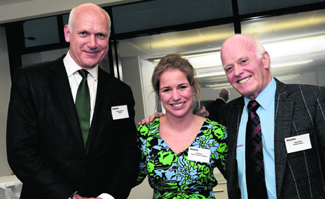 Derek Henderson, Elly Rothnie and Jimmy Milne