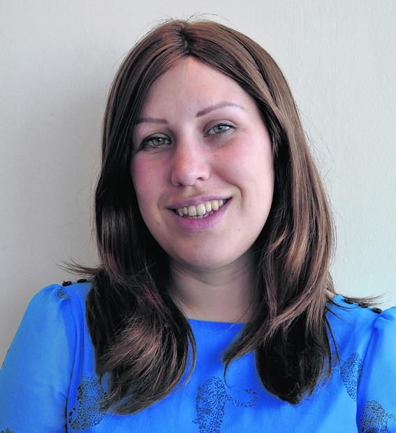 Ruth Emily McPherson is challenging herself to go wig-free next week to raise money for Autoimmune Alopecia Research UK