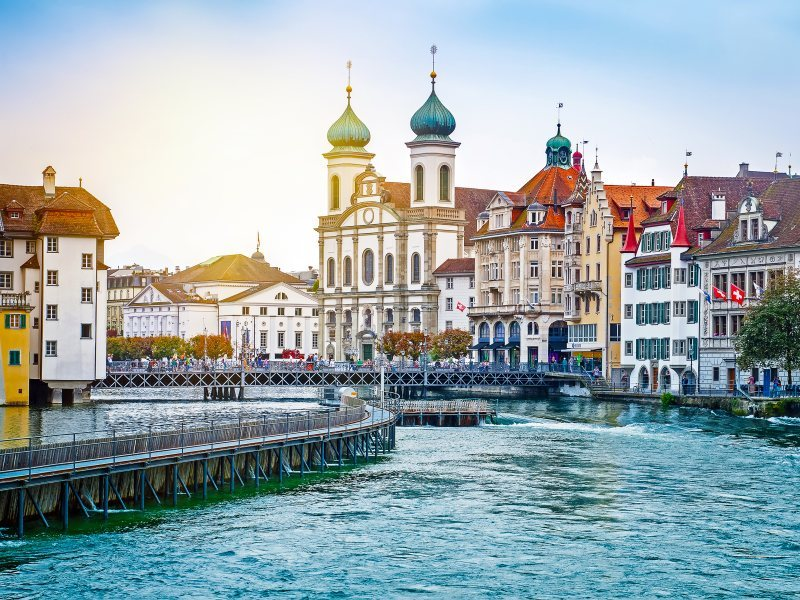 The pretty tow of Lucerne in Switzerland