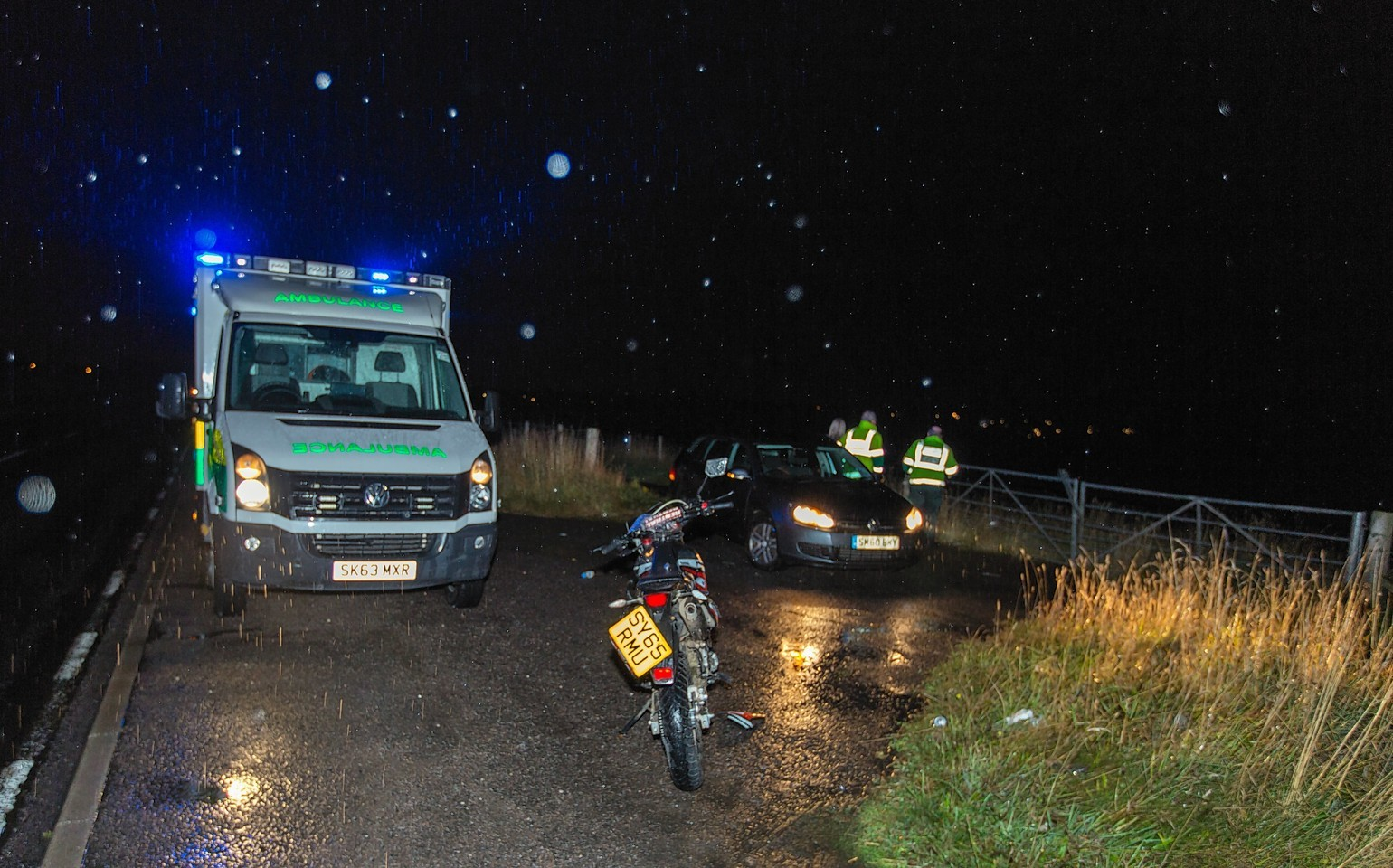 The accident on the A941 near Elgin