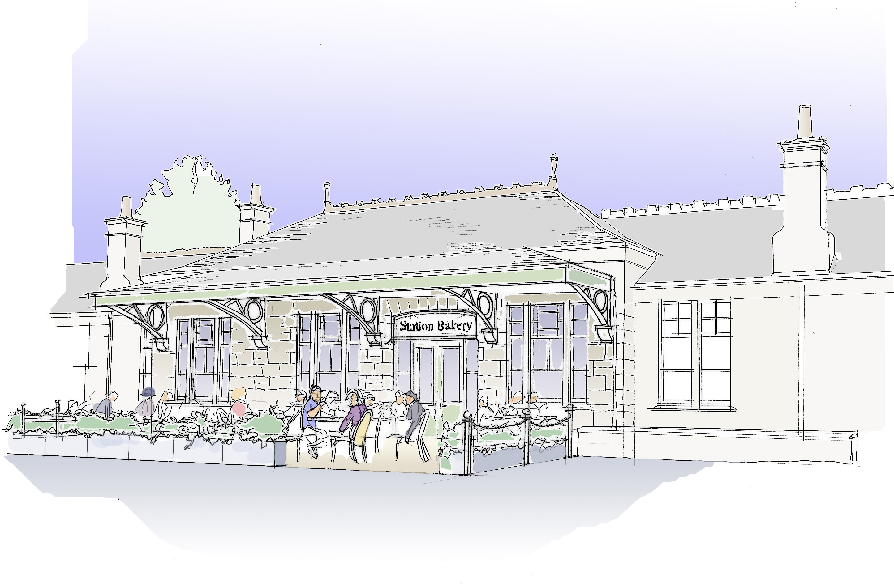 Artist's impression of Aboyne Station