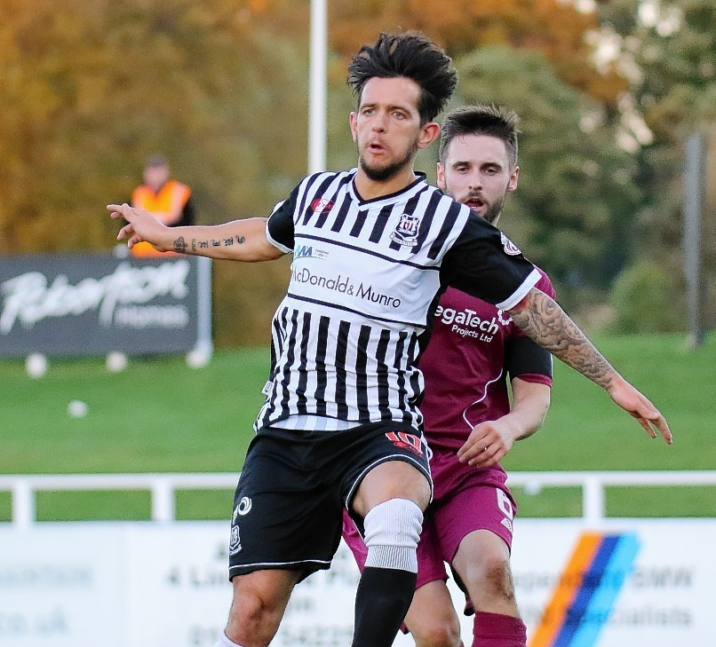 Dylan Easton in action for Elgin against Arbroath