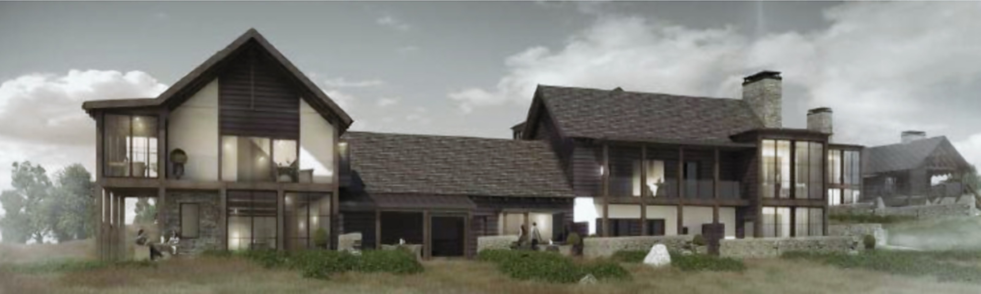 Artist impression of housing planned for the Inchmarlo