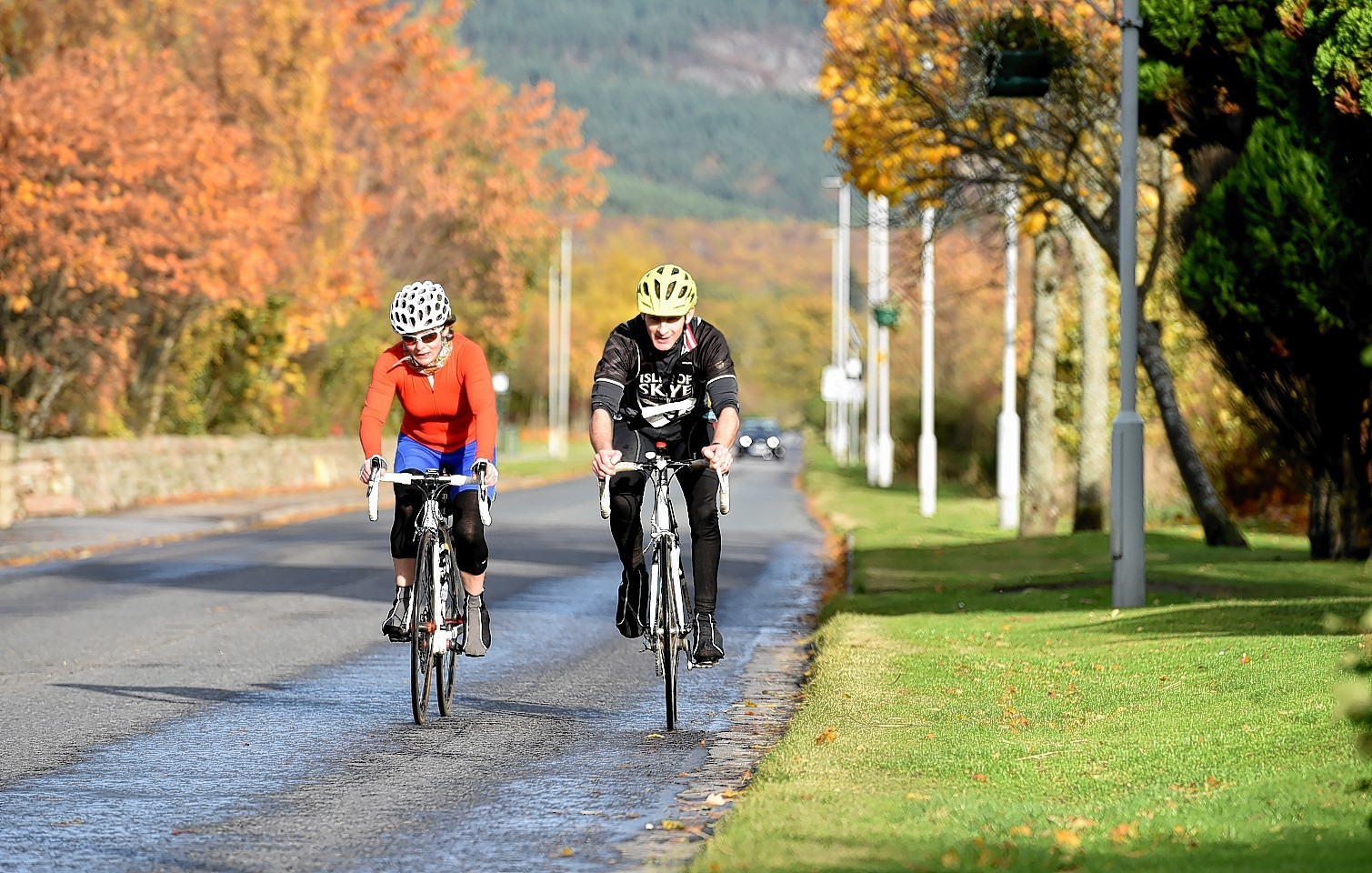 Cyclists take part in the charity ride for Kayleigh's Wee Stars at Ballater. Picture by Colin Rennie