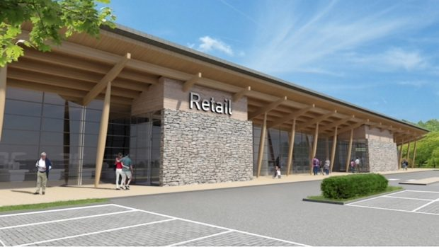 Artist impression of the proposed supermarket at Mill O' Forest
