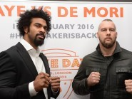 Former world heavyweight champion David Haye has announced he is to return to the ring in January with a bout against Australian Mark de Mori