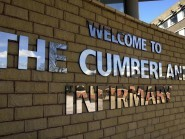 The baby girl was taken to Cumberland Infirmary