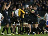 Bath celebrate their victory over Leinster