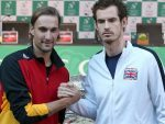 Ruben Bemelmans, left, will take on Andy Murray in the Davis Cup final on Friday