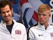Andy Murray, left, has faith in Kyle Edmund, right