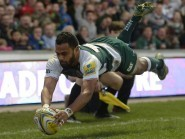 Telusa Veainu scored two tries for Leicester at Treviso