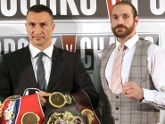Tyson Fury, right, joked about feeling nervous four days before fight night