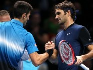 Novak Djokovic, left, and Roger Federer, right, will clash in Sunday's final